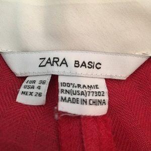 Zara red wide leg trousers size 4.
